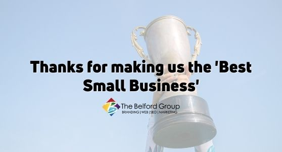 Thanks for making us the 'Best Small Business'