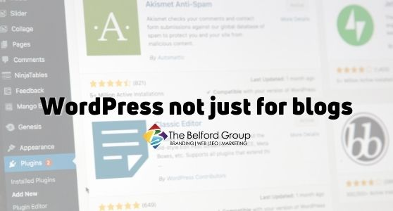 WordPress not just for blogs