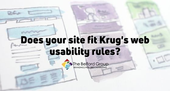 Does your site fit Krug's web usability rules?
