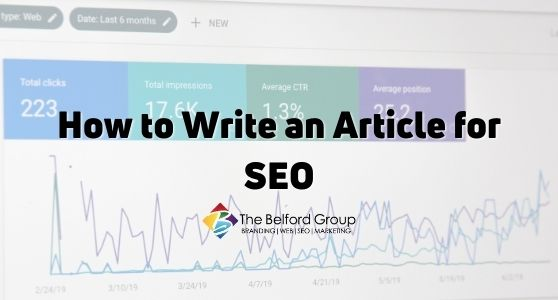 How to Write an Article for SEO