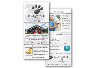 Bark Avenue Pet Lodge Rack Card