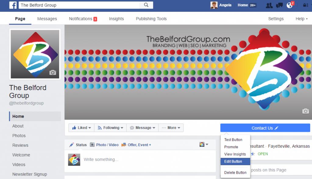 FaceBook Edit Call to action Button