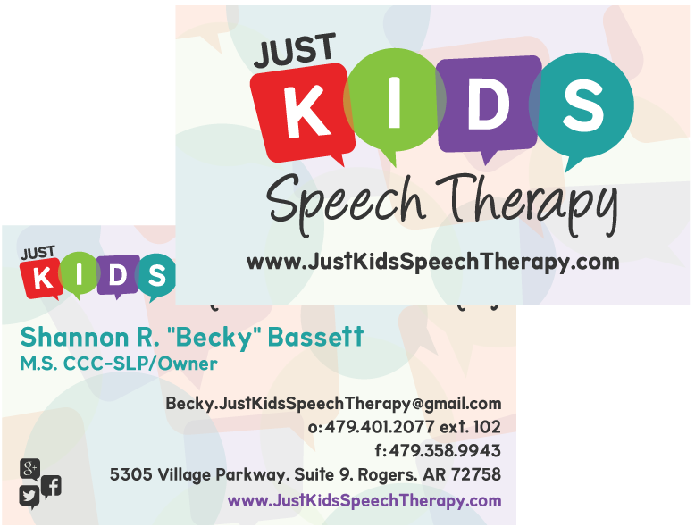 Just kids speech therapy the belford group 4794439945 business cards just kids speech therapy colourmoves